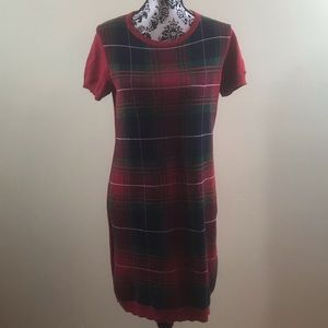 Tommy Hilfiger Women's Dress 100% Cotton Red